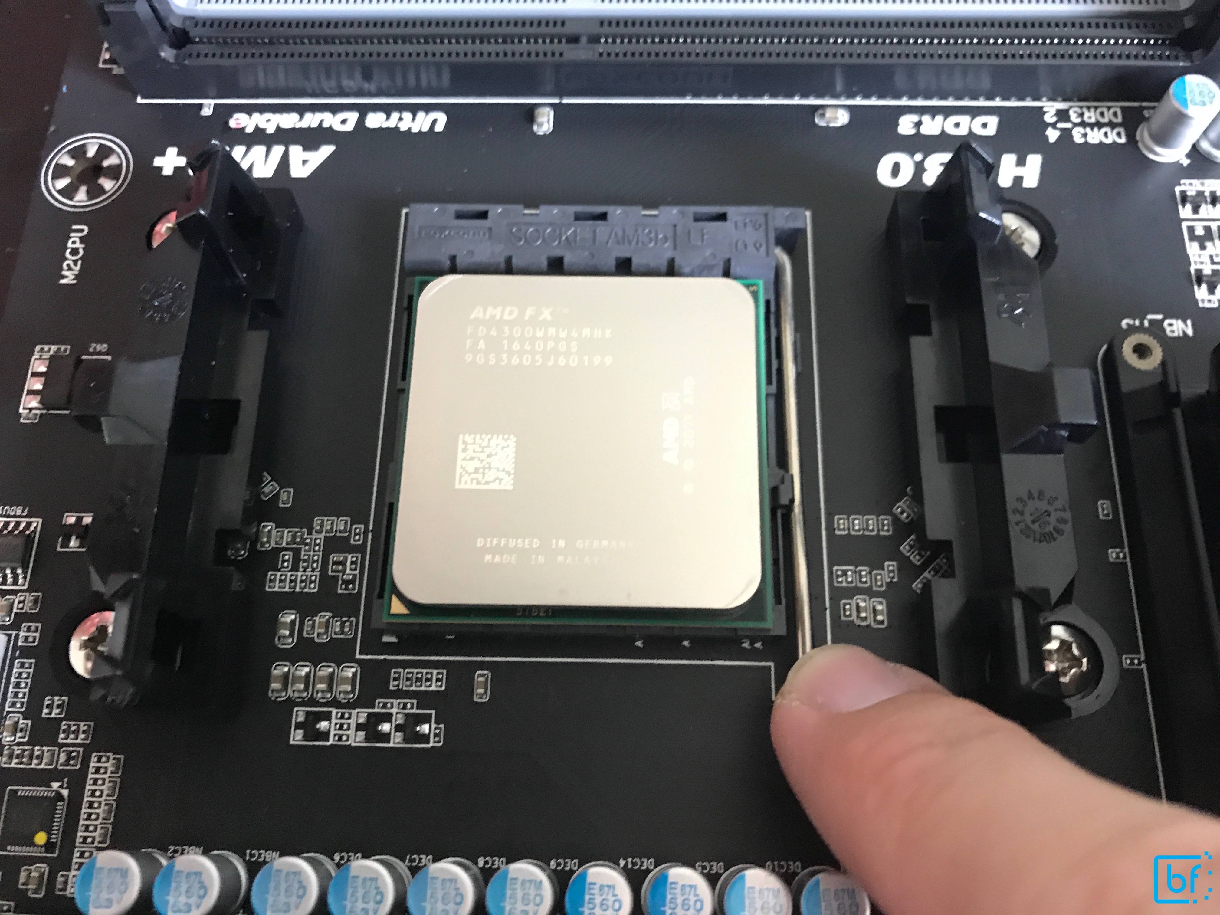 CPU securing lever